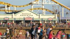 Santa Monica Pier Daytime - Los Angeles California - stock footage