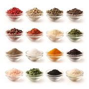 Spice set with clipping path Stock Photos