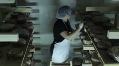 Turning the cheese Stock Footage