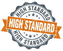 high standard vintage orange seal isolated on white - stock illustration