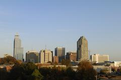 Raleigh North Carolina Downtown Skyline Kuvituskuvat