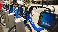Citibike scheme in NYC 4K - stock footage