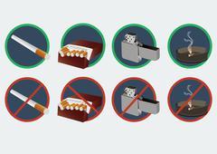 no smoking vector format - stock illustration