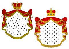 Heraldic royal mantles - stock illustration
