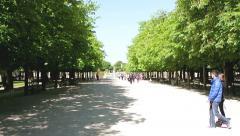 Jardin du Luxembourg - Paris Park France Stock Footage