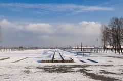 The Auschwitz-Birkenau State Museum Stock Photos