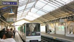 Paris Metro Station Stock Footage