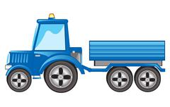 Stock Illustration of Tractor with pushcart