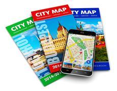 GPS navigation, travel and tourism concept Stock Photos