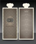 Restaurant or cafe menu vector design template vintage style Piirros