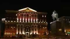 City Hall and Christmas lights  Stock Footage