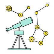 Research and Science Harmony series icons - stock illustration