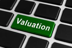 valuation button on keyboard - stock photo