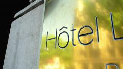 Hotel sign golden 5 stars Stock Footage