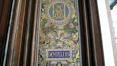 Le Bon Marche mosaics Stock Footage