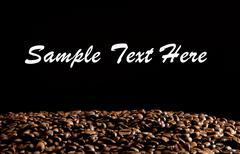 Coffee heart - stock photo