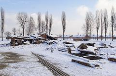 The Auschwitz-Birkenau State Museum - stock photo