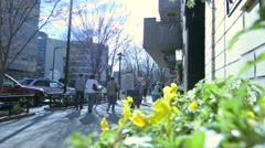 People Walking in Downtown Greenville, South Carolina Stock Footage