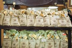 Cashier of Lviv's famous Coffee Mining Manufacture Kuvituskuvat