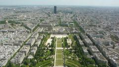 Aerial cityscape of Paris, France Stock Footage