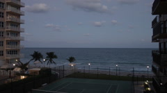 Ocean view at dusk, evening in Fort Lauderdale, Florida Stock Footage