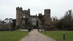 Irish Castle House Entrance Stock Footage