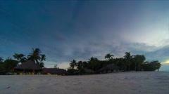Beach sunset time lapse 4kUHD Stock Footage