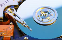Open HDD disk - stock photo