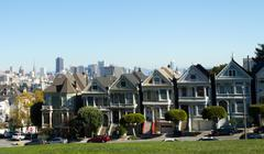 The Painted Ladies of Alamo Square in San Francisco, United-Stat Stock Photos