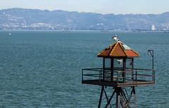 Alcatraz prison guard tower Stock Photos