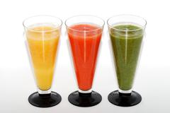 three smoothie - stock photo