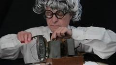 Stock Video Footage of Senior Man as a Radio Repairman