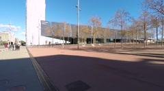 Barcelona Exterior Forum in Barcelona, Spain. Stock Footage