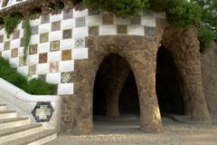 Mosaic and aqueduct Stock Photos