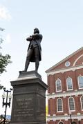 Samuel Adams Statue Boston - stock photo