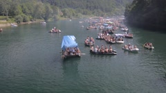 rafting on river Drina - stock footage