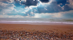 Sea-piece. marine waves and cloudy sky. Stock Footage