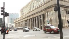 Street  in front of Union Station Chicago Stock Footage