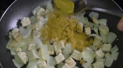 Frying spices Stock Footage