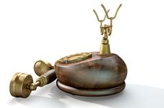 Vintage Telephone Off The Hook Stock Illustration