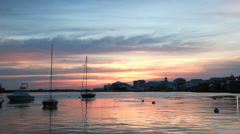 Bermuda Hamilton Skyline At Sunset Stock Footage