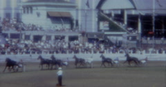 Horse Track Race Turf  60s Sydney Stock Footage