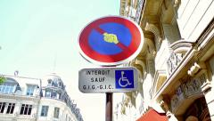 Street sign in Paris Stock Footage