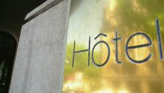 Hotel and concierge Stock Footage