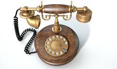 Vintage Telephone Isolated - stock illustration