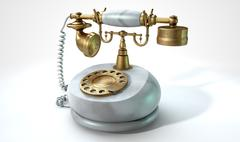 Vintage Marble Telephone - stock illustration