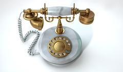 Vintage Marble Telephone - stock illustration