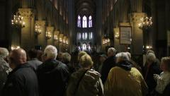 Notre-Dame de Paris, France Stock Footage