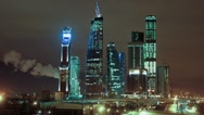 Stock Video Footage of Business Moscow City skyscrapers HD