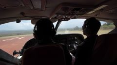 CESSNA CARAVAN BUSH PILOTS FLYING REMOTE AFRICA SAFARI Stock Footage